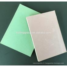 Prix de panneau de gypse imperméable de papier imperméable