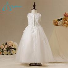 Новый дизайн вечерние реальные фото обслуживание OEM цветок девочки платья