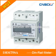 DRM75SA Monofásico lcd display din-rail digital watt hour meter