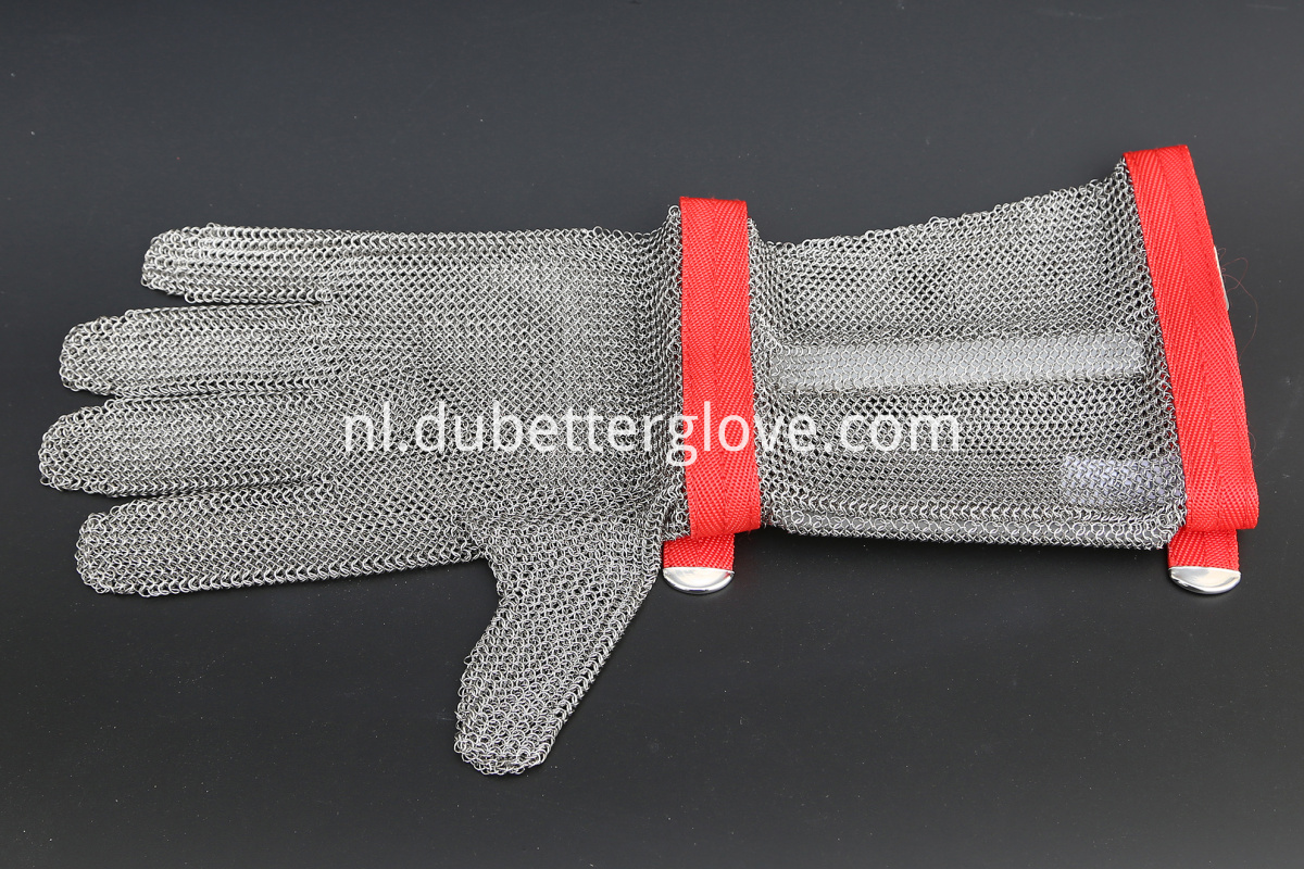 ring mesh glove with 20cm cuff