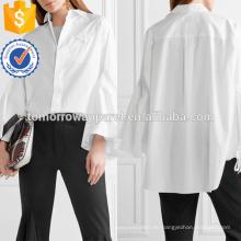 Camisa de popelina de algodón de gran tamaño con puños anchos de campana Fabricación de ropa de mujer de moda al por mayor (TA4083B)