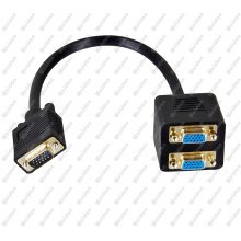 Premium VGA Male to 2 * VGA Female Splitter Adapter Cable