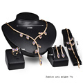 Solid Gold Leaves Shaped Jewelry Sets for Ladies (C-XSST0070)