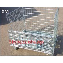 Heavy Duty apilable y plegable contenedor de malla de alambre para el almacenamiento