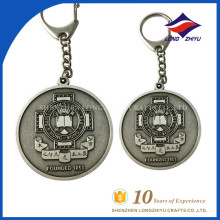 Custom key chain round shape swimming theme cheap price key chain