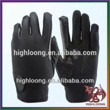 Schwarz Unisex Polyester Kreuz Hand Leder Reiten Handschuhe