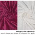 Manta de lana Sherpa de doble capa personalizada