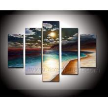 Pintura a óleo handmade do Seascape da lona da arte da alta qualidade na lona (SE-187)