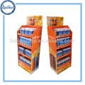 Estante de exhibición de la taza de vacío de la posición de la cartulina del estante de encargo, soporte de exhibición de la botella de cartón, estante de exhibición de la taza