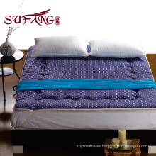 Luxury hotel Blue print rubber patch skid resistance mattress