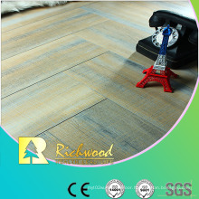 Commercial 12.3mm Embossed Oak Waxed Edged Lamiante Floor