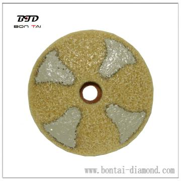4 inch Diamond polishing pad to achieve high gloss
