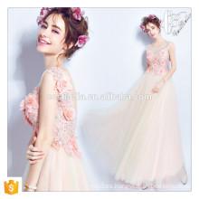 Chic formal de color rosa frisado impreso floral vestido de baile vestido de regreso a casa para mujeres maduras vestidos de noche