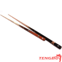 High quality 3/4 jointed cue as wood snooker cue for sale