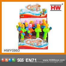 2015 Artigos promocionais quentes Mini Handheld Spinning Personal Fan Candy Brinquedos