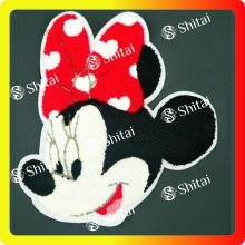 Free sample for for China Chenille Patches,Custom Chenille Patches,Patches For Jackets Manufacturer and Supplier Beautiful Mickey chenille Patches for children T shirt supply to Poland Exporter