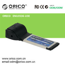 USB 3.0 + eSATA (PM) Expresskarte für Laptop34mm / 54mm