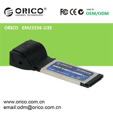 USB 3.0 + carte eSATA (PM) Express pour ordinateur portable34mm / 54mm