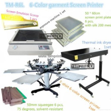 TM-R6k 6-Color T-Shirt Screen Printing Machine