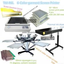 ТМ-R6k 6-Цвет T-рубашка печатная машина экрана