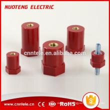 isolateur rond de barre omnibus en cuivre neutre électrique hexagonal