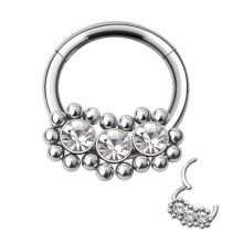 2020 New Product Bezel Set cubic zircon Hinged Nose Ring body piercing