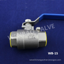 2-Part Stainless Steel 316L Ball Valve with Threaded Ends