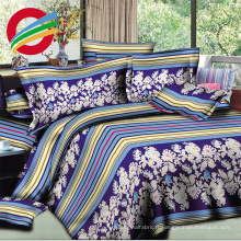 tissu 100% polyester imprimé par fleur de haute qualité de prix bon marché de 100% pour faire la feuille de lit