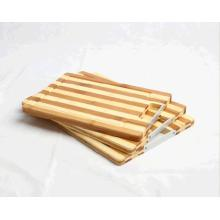 Premium Bamboo Stripe Chopping Block Set With Handle