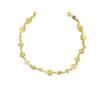 Bracelet 22 K Electroplated Gold Color