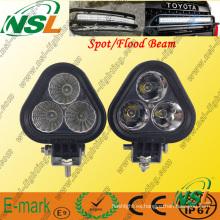 Luz de trabajo LED de la serie Creee, luz de trabajo LED de 3PCS * 10W, luz de trabajo LED de foco / inundación para camiones