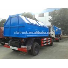2015 Dongfeng гидравлическая мусороуборочная машина, 3-4m3 мусорные контейнеры для продажи