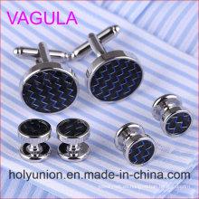 VAGULA Quality New Brass Gemelos Cufflinks Collar Studs en 6PCS Set (294)