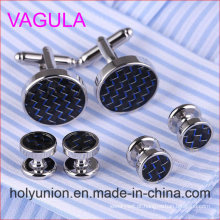 VAGULA Qualidade New Brass Gemelos Abotoaduras Collar Studs em 6PCS Set (294)