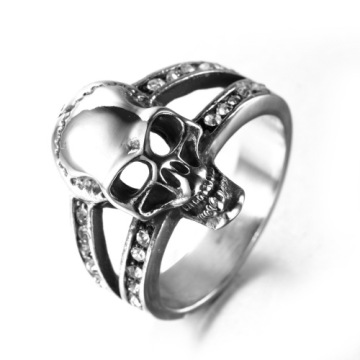 Fashion Chinese style Vacuum plating skull rings