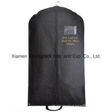 Promocionais Preto Non-Woven PP Clothes Cover Garment Bag