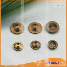 Botón de aleación de zinc y botón de metal y botón de costura de metal BM1592