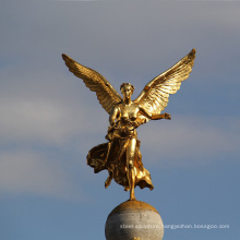 High quality building decor beautiful bronze angel sculpture