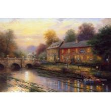 Peinture à l'huile de paysage classique Thomas Landscape pour décoration intérieure