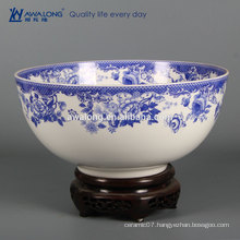 White And Blue Ceramic Plates Used Fine Bone China