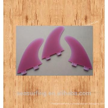 2016 прозрачный Тип красивая модель моды Г3 ласты красочные доска для серфинга плавники
