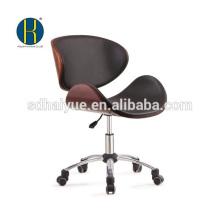 Muebles de oficina giratorios de madera de cuero negro de diseño nuevo