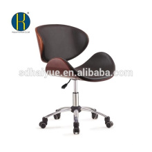 Novel design black leather wooden swivel office furniture