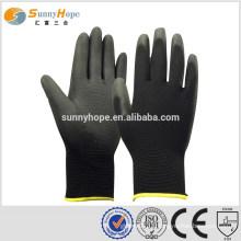13 Gauge black pu coated hand gloves