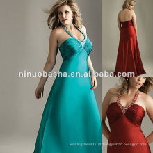 Beaded Halter Neckline Chiffon Evening Dress 2012