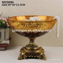 Decoração de casamento, artesanato de vidro doméstico e prato decorativo de frutas para decoração de interiores