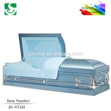 buy JS-ST241 high quality metal caskets with Velvet interior