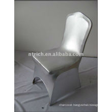 Metal silver Spandex Chair Covers for weddings and banquets