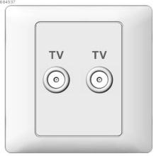 Two gang TV socket