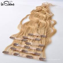 Gros russe sans couture PU Pince Clip Dans Extension de cheveux